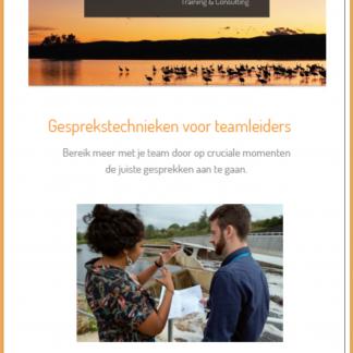 Cover e-book Gesprekstechnieken met rand