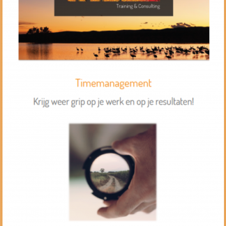 Cover e-book Timemanagement met rand